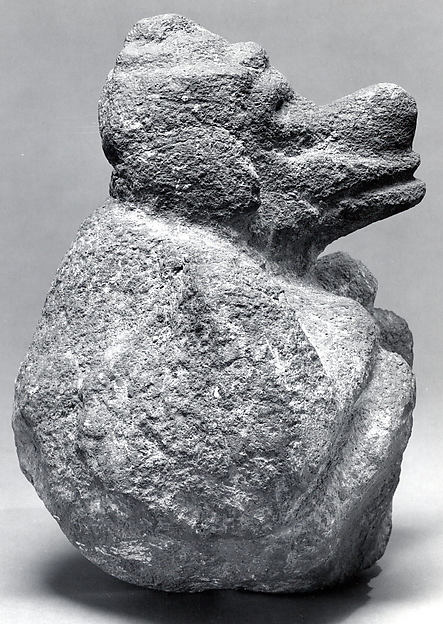 Seated Male Deity (Ehecatl ?)