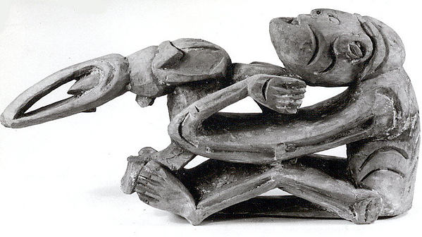 Figure from a Canoe Prow