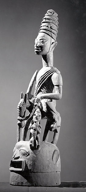 Epa Helmet Mask: Equestrian Figure (Jagun Jagun)