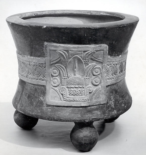 Tripod Vessel with Date Glyph