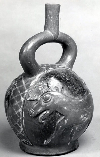 Stirrup Spout Bottle with Deer