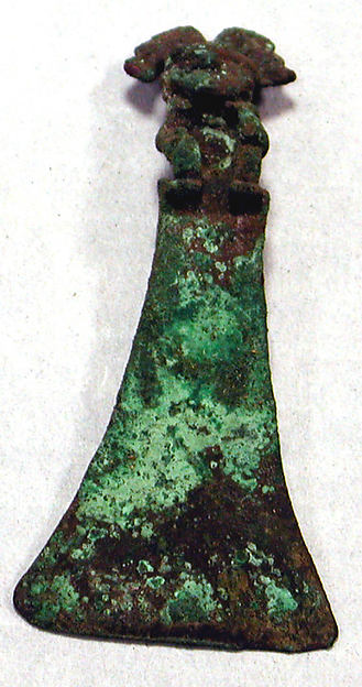 Copper Tumi with Figure