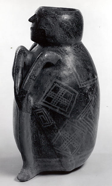 Seated Figure Vessel