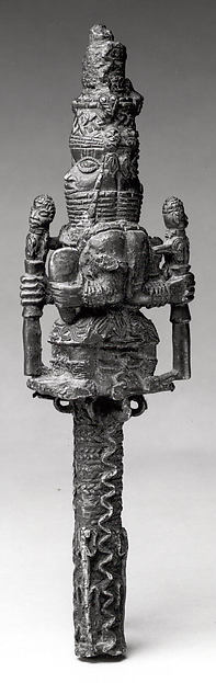 Staff Fragment: Seated Oba