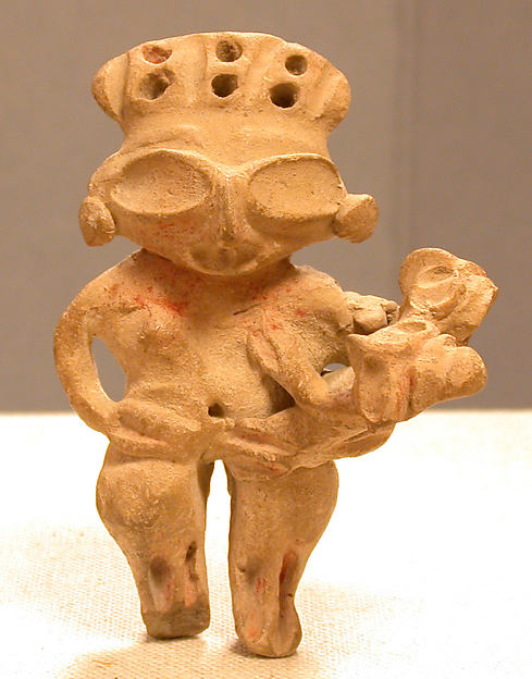 Ceramic Mother and Child Figure