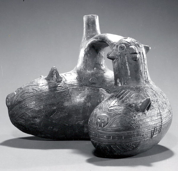 Bridge and Spout Bottle with Snake and Falcoln