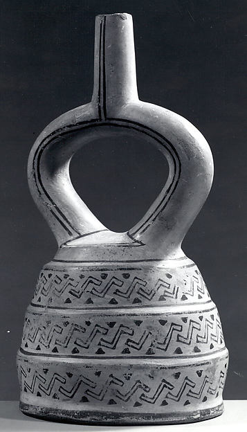 Stirrup Spout Bottle with Three Sections
