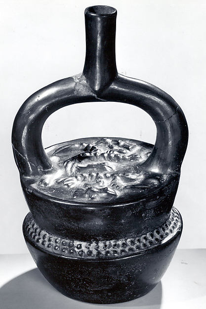 Stirrup Spout Bottle with Stacked Containers