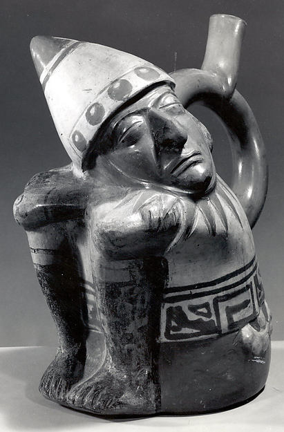 Stirrup Spout Bottle with Sleeping Warrior