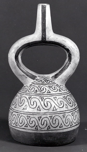 Stirrup Spout Bottle with Scrolls