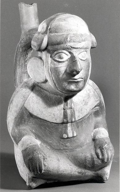 Bottle, Seated Figure
