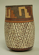 Tall Jar with Crosshatch Designs