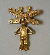 Gold Figure Pendant