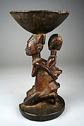 Ifa Divination Vessel: Mother and Child Caryatid (Agere Ifa)