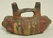 Double Spouted Vessel with Snake