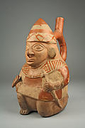 Stirrup Spout Bottle with Kneeling Warrior