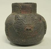 Single Spout Jar in the Form of a Feline