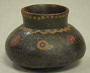 Incised Painted Jar with Single Spout