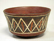 Painted Bowl with Diagonal Lines