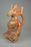 Stirrup Spout Bottle with Deer