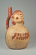 Stirrup Spout Bottle with Figure