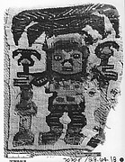 Tapestry Fragment with Plumed Figure