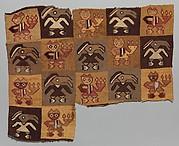 Textile Fragment, Figures