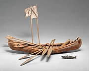 Canoe Model with Accoutrements