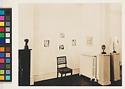 "Installation view of Whitney Studio Club exhibition ""Recent Paintings by Pablo Picasso and Negro Sculpture"""