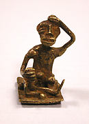Gold Weight: Seated Male