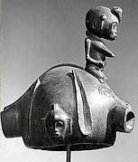 Helmet Mask with Female Figure