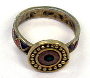 Silver Ring with Inlays