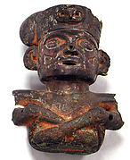 Copper Seated Male Figure
