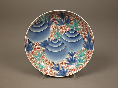 Dish with Design of Sacred Jewels, Plum, and Pine