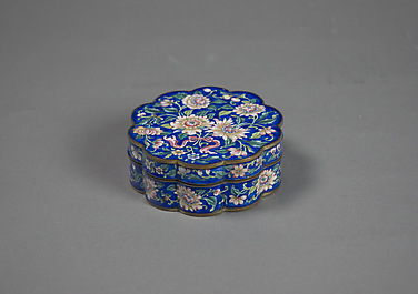 Box with Floral Scrolls