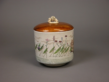 Water Jar with Design of Procession of Grasshoppers