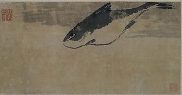 明/清  朱耷  魚樂圖  軸<br/>Fish