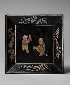 Dish with Two Boys