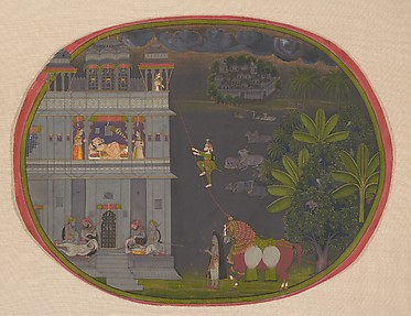 Escapade at Night: A Nobleman Climbs a Rope to Visit His Lover