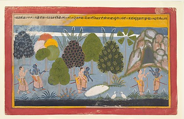 Rama and Lakshmana Search in Vain for Sita