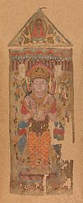 Banner with Bodhisattva, possibly Mahamayuri