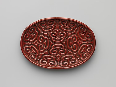 Tray with Pommel Scrolls