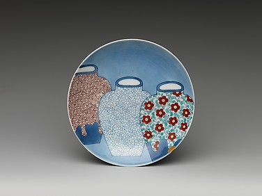 Dish with Design of Three Jars