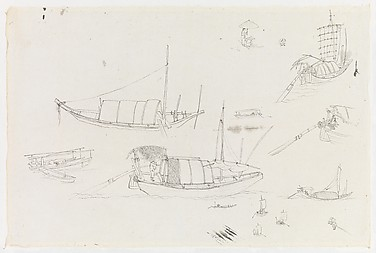 Studies of Boats and Figures