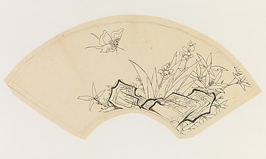 Butterfly, Bamboo, Flowers, and Rock, after Chen Hongshou