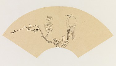 Bird on a Branch of Blossoming Plum, after Chen Hongshou