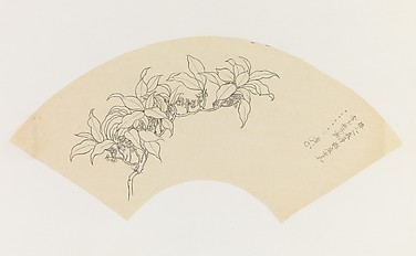 Flowering Branch and Poem, after Yun Shouping