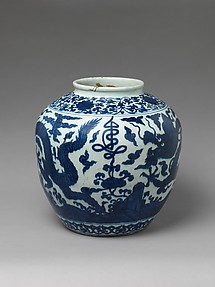 Jar with Dragon and Character for Longevity (Shou)