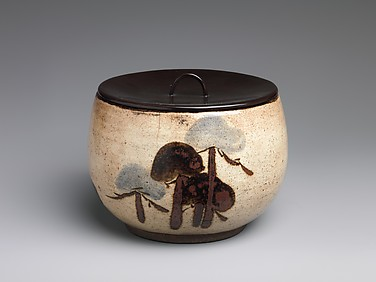 Water Jar (Mizusashi) with Pine Trees