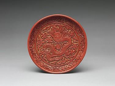 Dish with Dragon